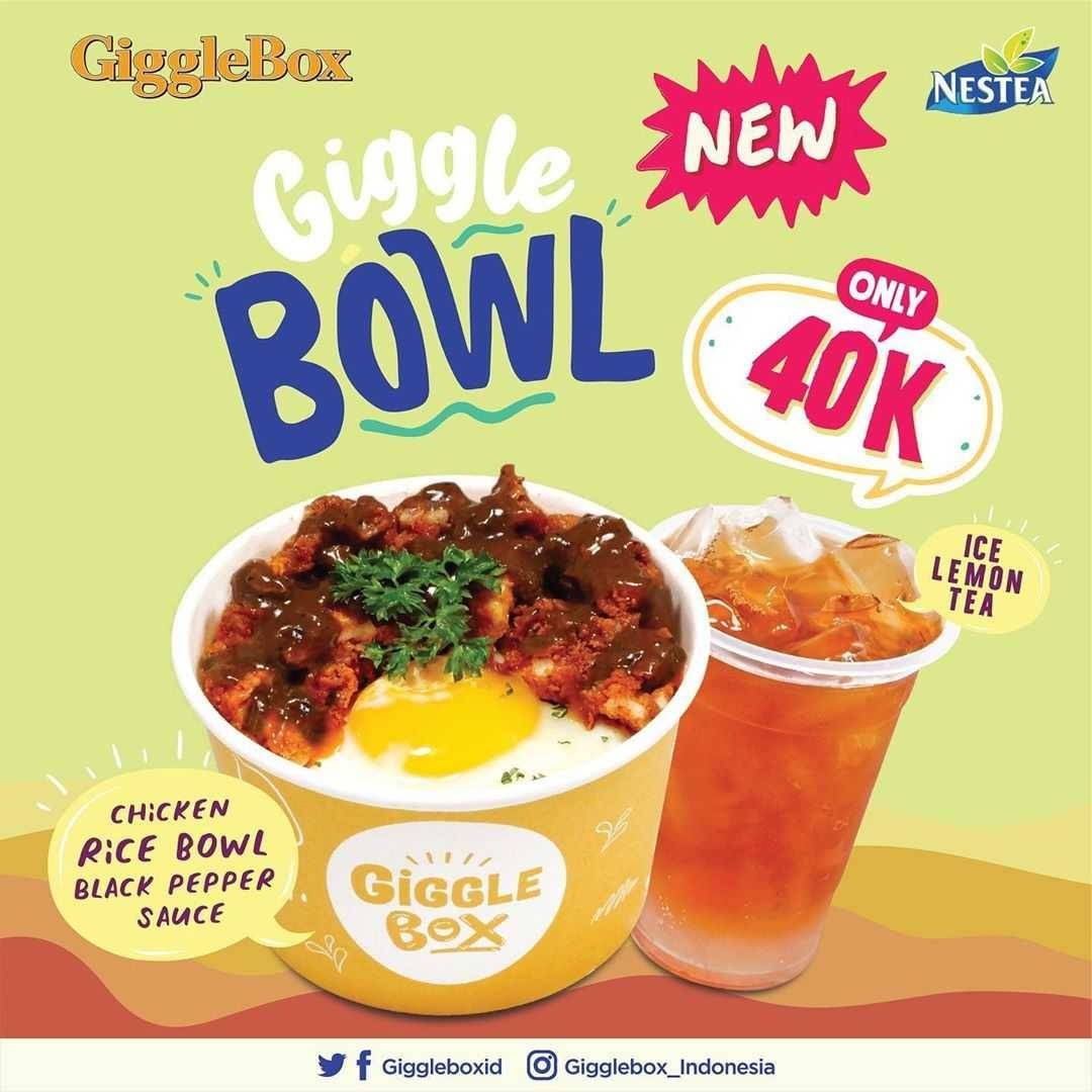 Promo diskon Promo Giggle Box Paket Chicken Rice Bowl + Nestea Cuma Rp. 40.000