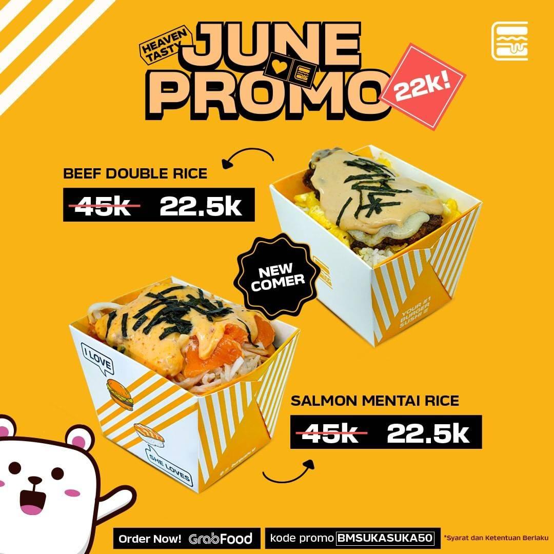 Diskon Promo Burgushi Diskon 50% Untuk Pemesanan Ricebox Melalui GrabFood