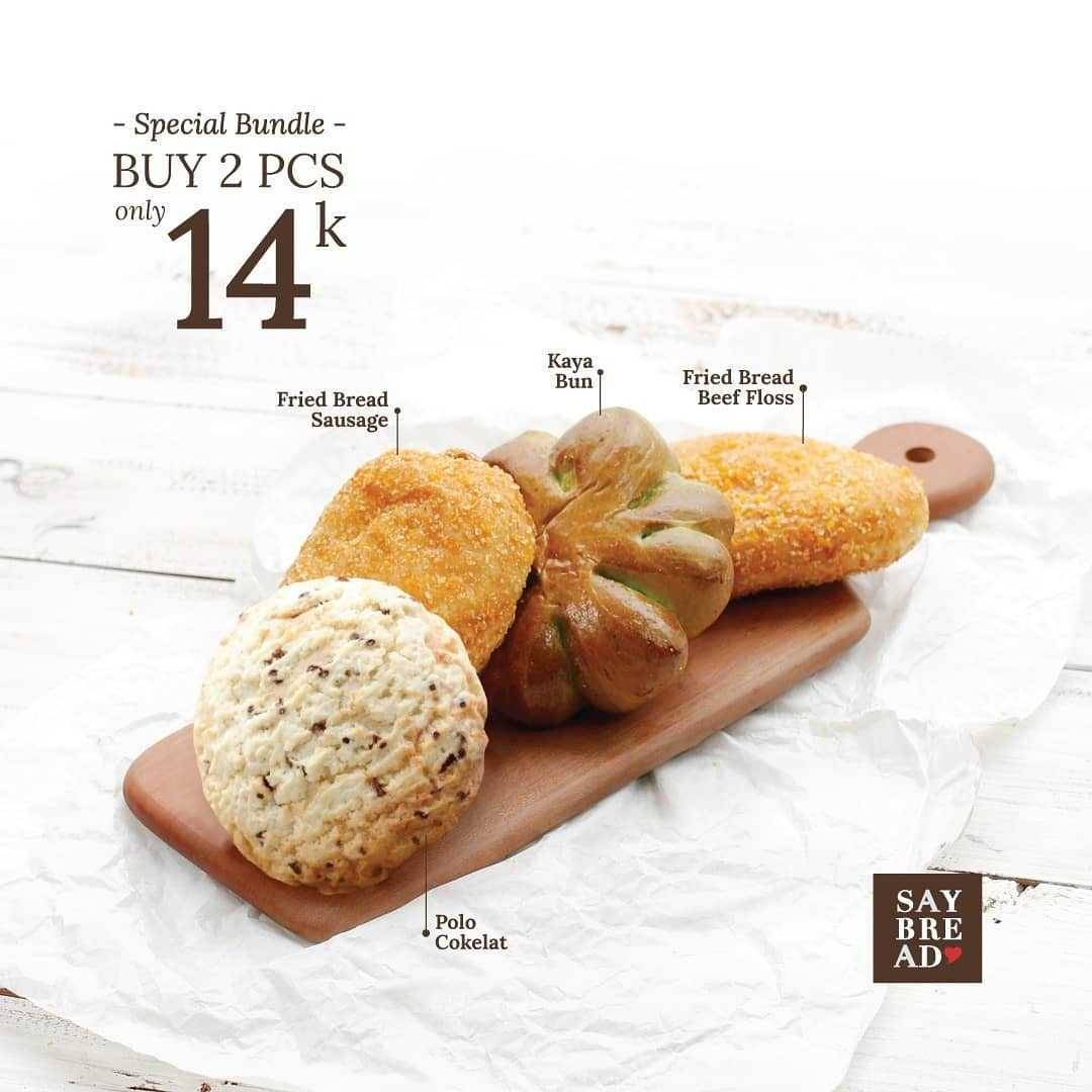 Promo diskon Promo Indomaret Special Bundle Saybread Beli 2 Roti Hanya Rp. 14.000