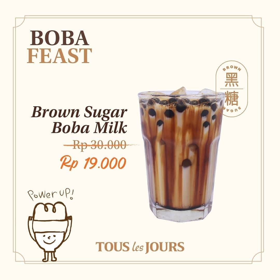 Diskon Promo Tous Les Jours Special Value Of Brown Sugar Boba Milk Only For IDR. 19.000
