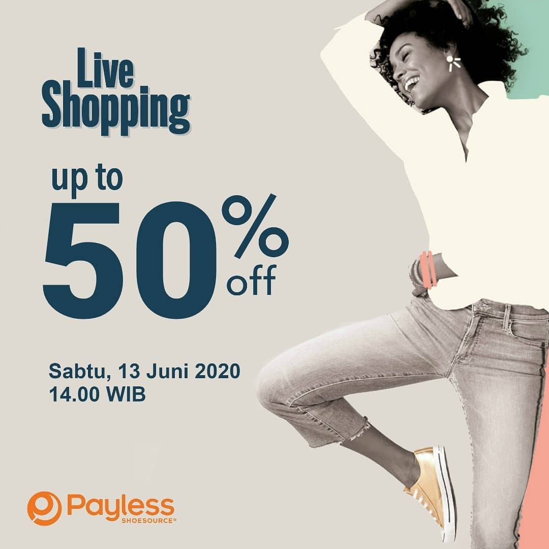 Diskon Promo Payless Live Shopping Get Discount 50% Off