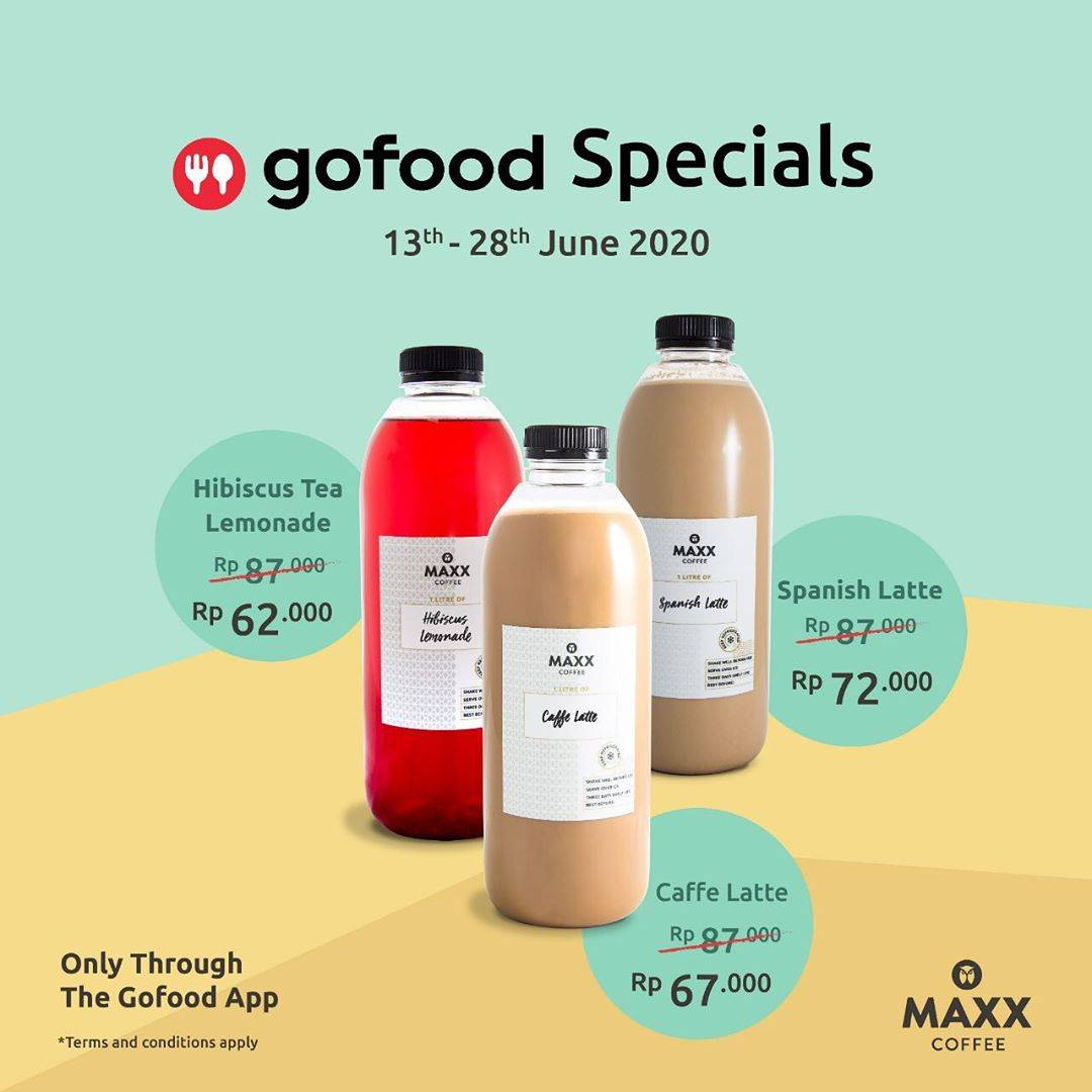 Diskon Promo Maxx Coffee Special Deals On GoFood, Special Value For Favorite Drinks Start From Rp. 62.000