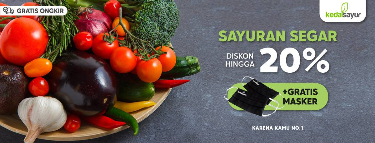 Diskon Promo Blibli Diskon Hingga 20% + Gratis Masker Setiap Belanja Sayur Dari Kedai Sayur