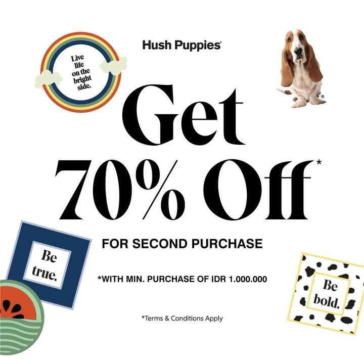 Diskon Promo Hush Puppies Diskon 70% Untuk Pembelanjaan Kedua Di Store Hush Puppies