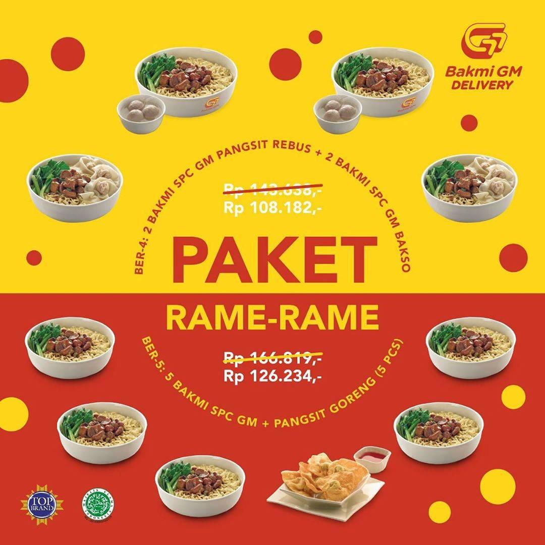 Diskon Promo Bakmi GM Harga Spesial Paket Rame Rame Mulai Dari Rp. 108.182