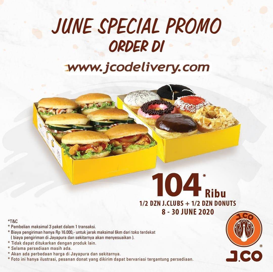 Diskon Promo J.CO Harga Spesial Paket 1/2 Lusin J.Club + 1/2 Lusin Donat Hanya Rp. 104.000