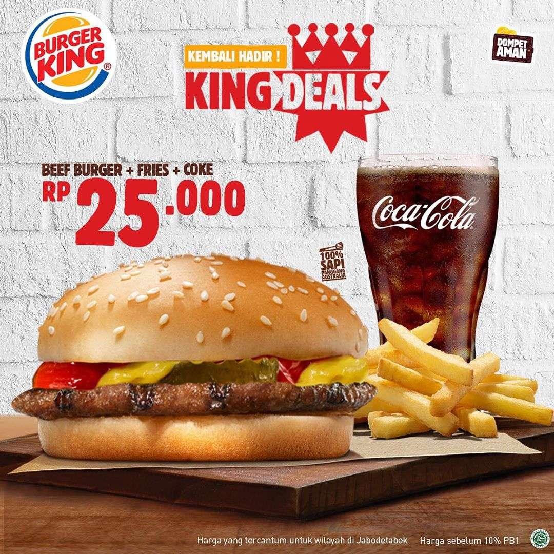 Diskon Promo Burger King Harga Spesial Paket King Deals Mulai Dari Rp. 27.273