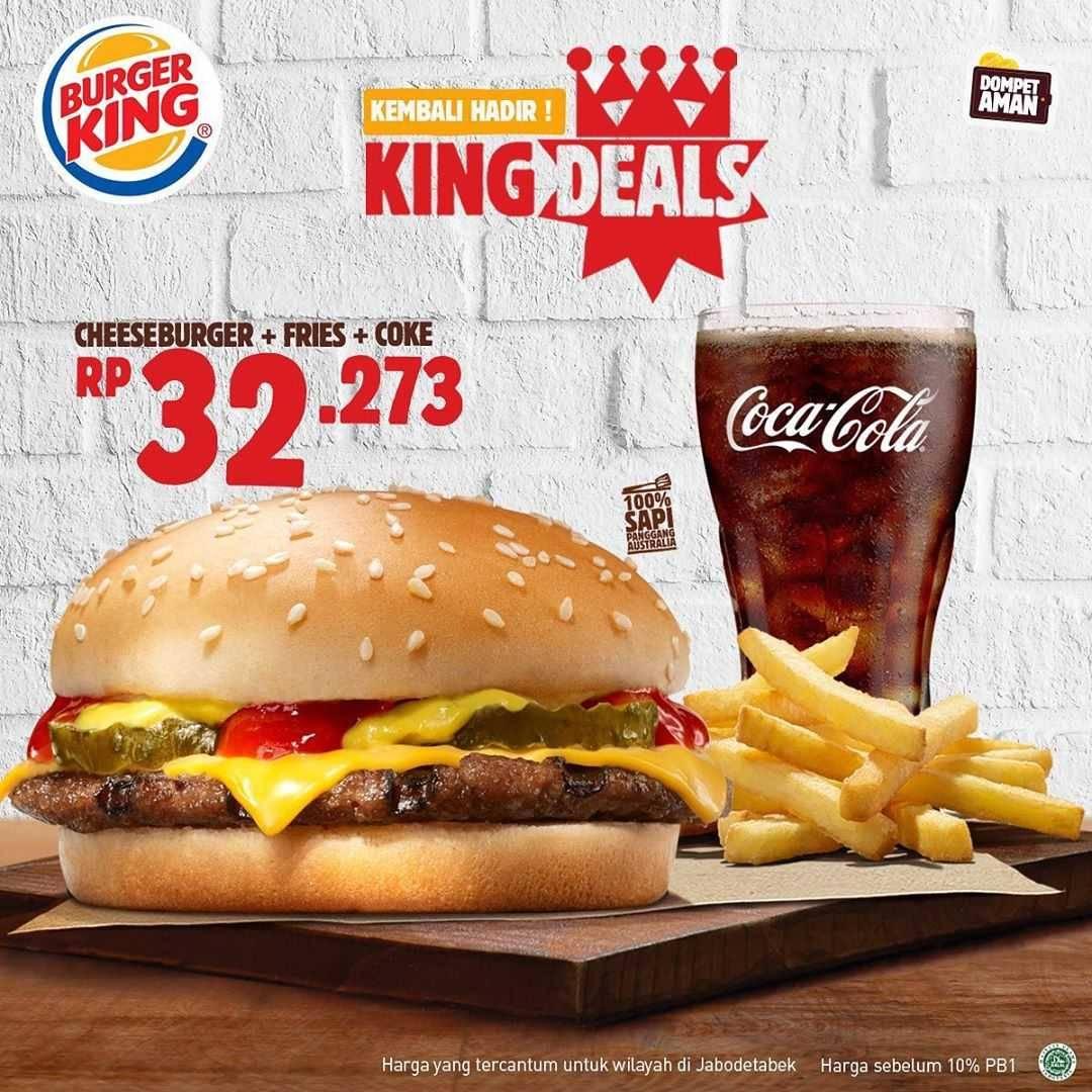 Promo diskon Promo Burger King Harga Spesial Paket King Deals Mulai Dari Rp. 27.273