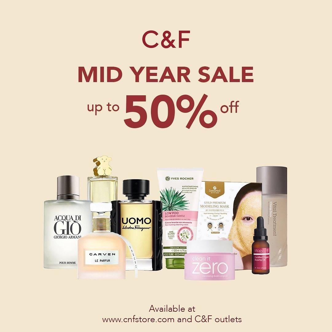 Diskon Promo C&F Mid Year Sale Diskon Hingga 50% Untuk Produk Favorit