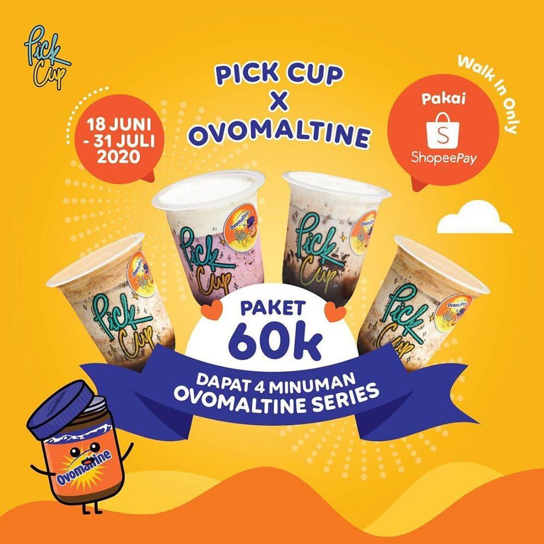 Diskon Promo Pick Cup 4 Ovamaltine Series Hanya Rp. 60.000