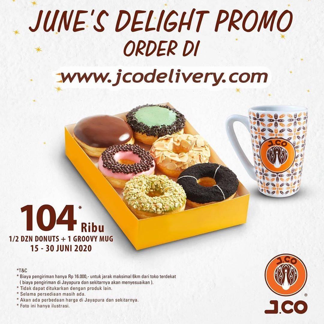 Diskon Promo J.CO 1/2 Lusin Donat Favorit + Groovy Mug J.CO Hanya Rp. 104.000