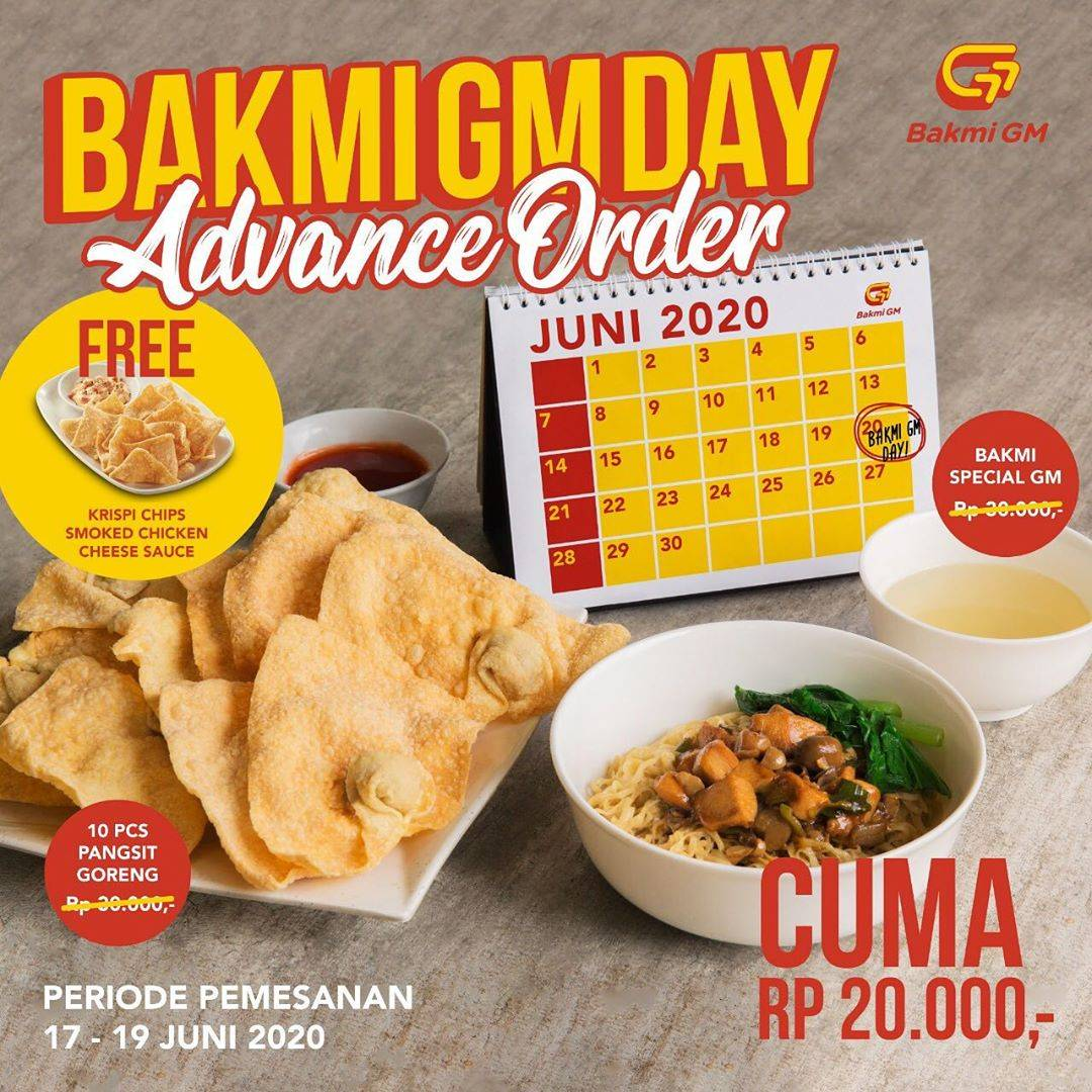 Diskon Promo Bakmi GM Harga Spesial Bakmi GM Spesial Hanya Rp. 20.000 + Free Krispy Chips