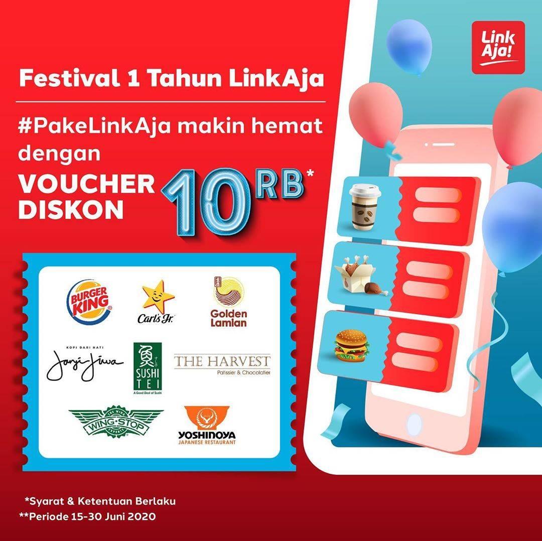 Diskon Promo Link Aja Voucher Diskon Rp. 10.000 Untuk Pembelanjaan Di Merchant Pilihan