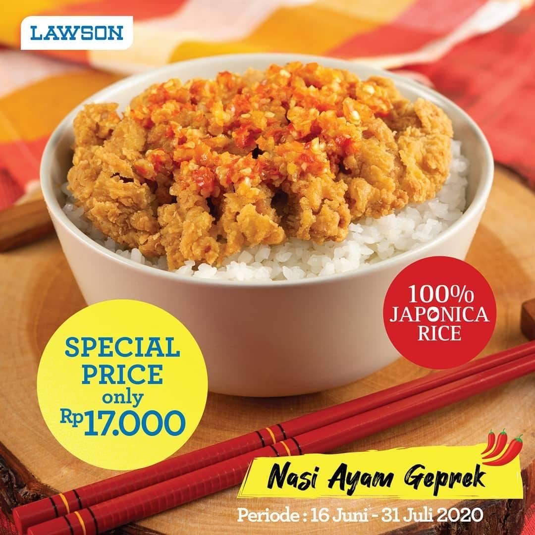 Diskon Promo Lawson Nasi Ayam Geprek Hanya Rp. 17.000
