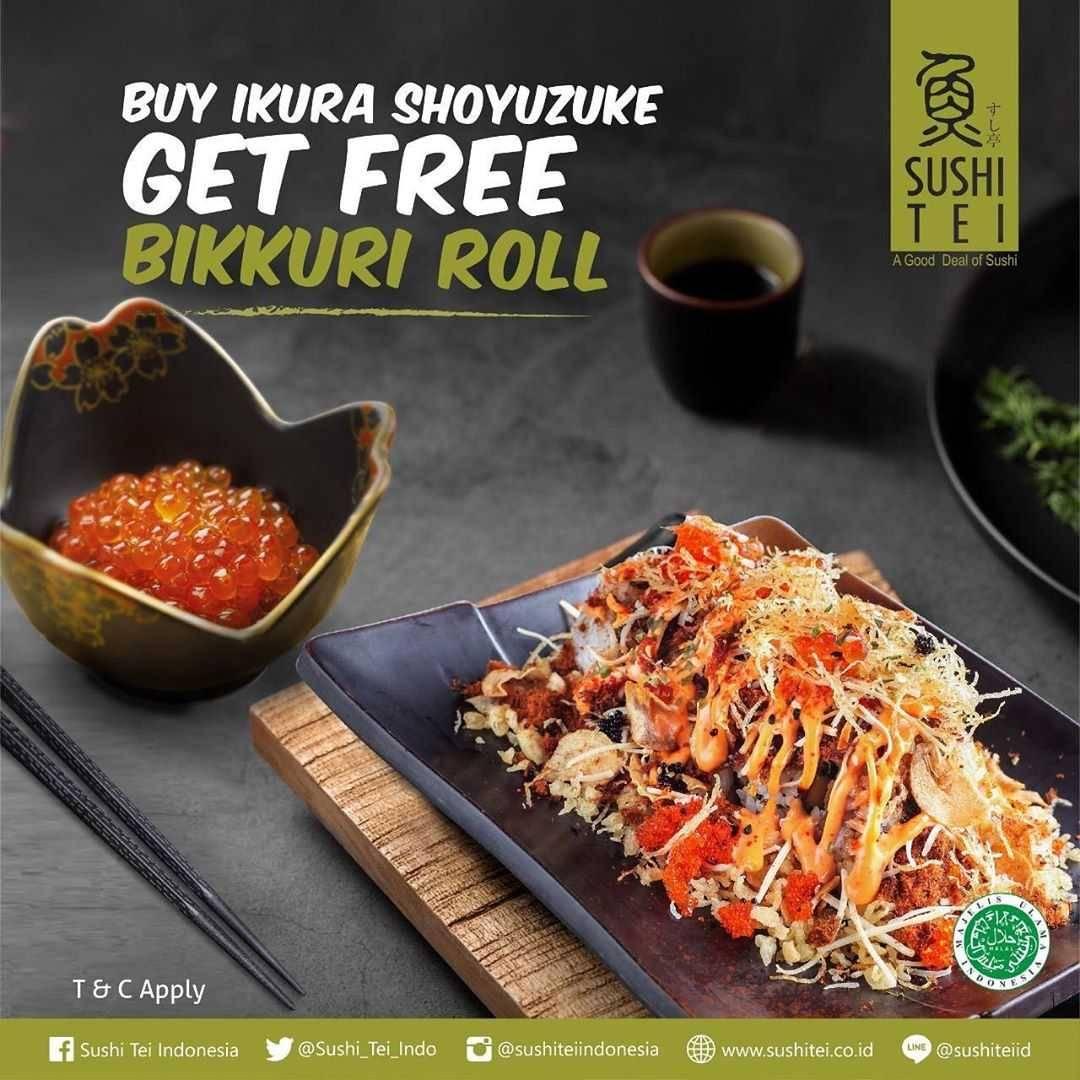 Promo diskon Promo Sushi Tei Buy 1 Get 1 Free Selected Item