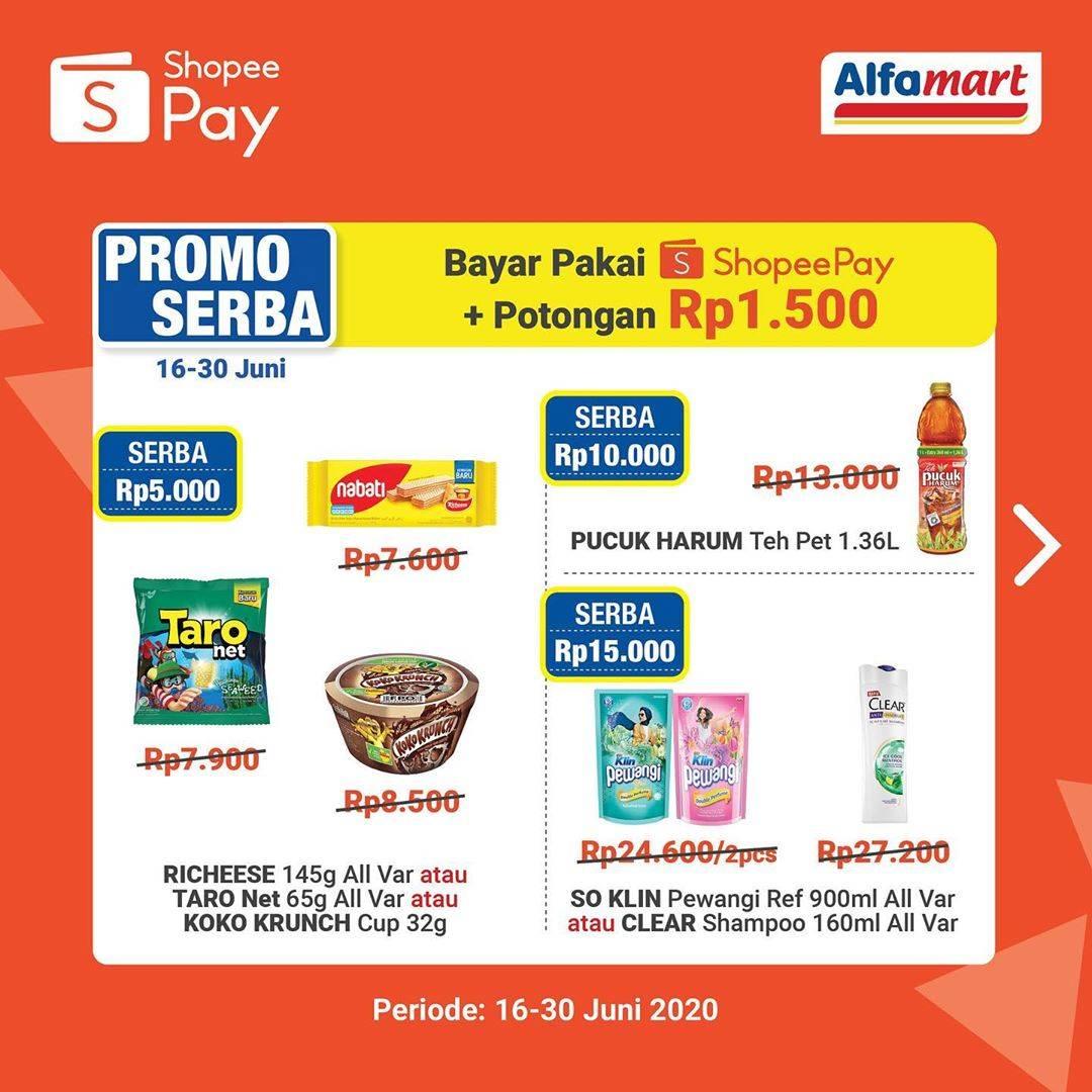Diskon Promo Alfamart Belanja Murah Meriah Untuk Transaksi Menggunakan ShopeePay