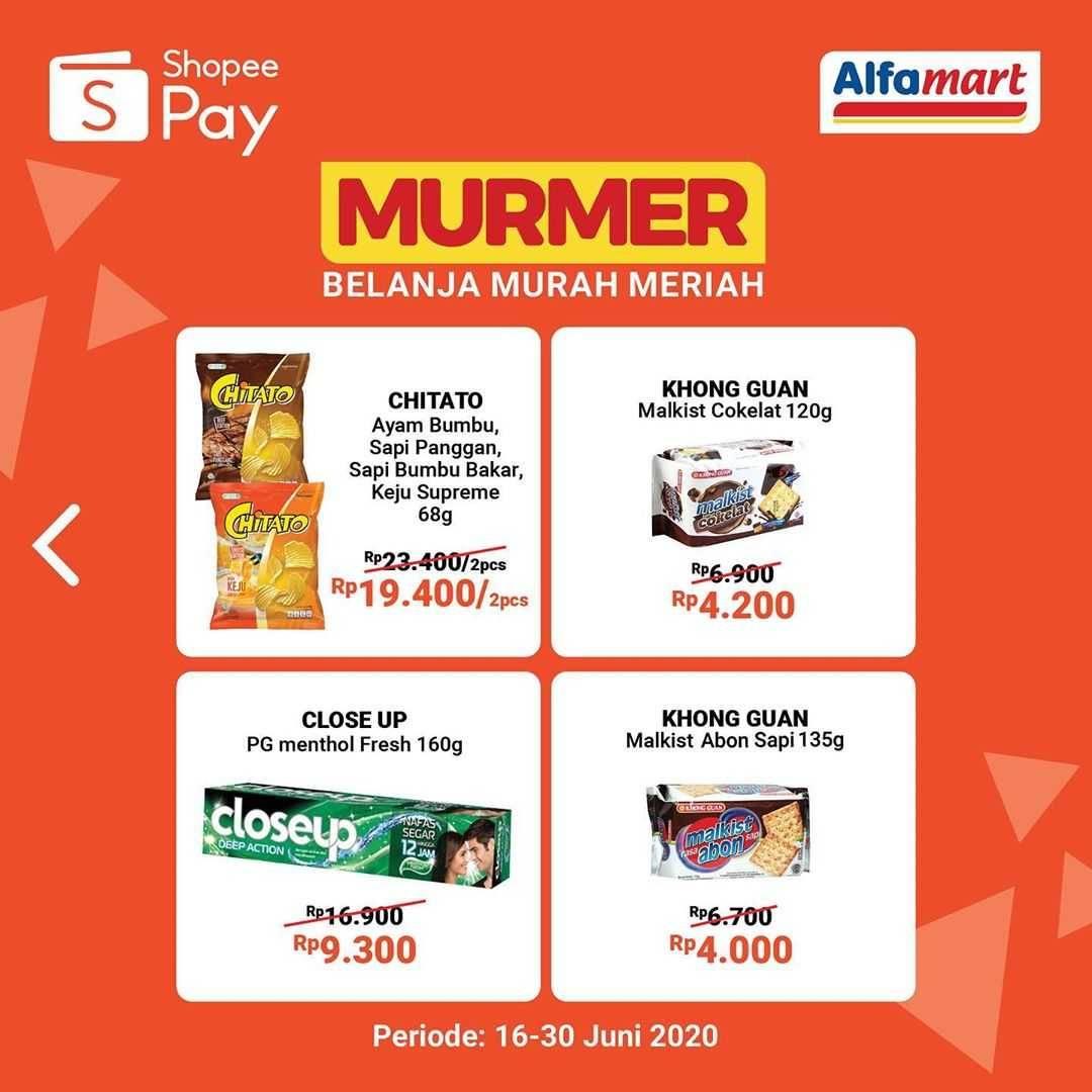 Promo diskon Promo Alfamart Belanja Murah Meriah Untuk Transaksi Menggunakan ShopeePay
