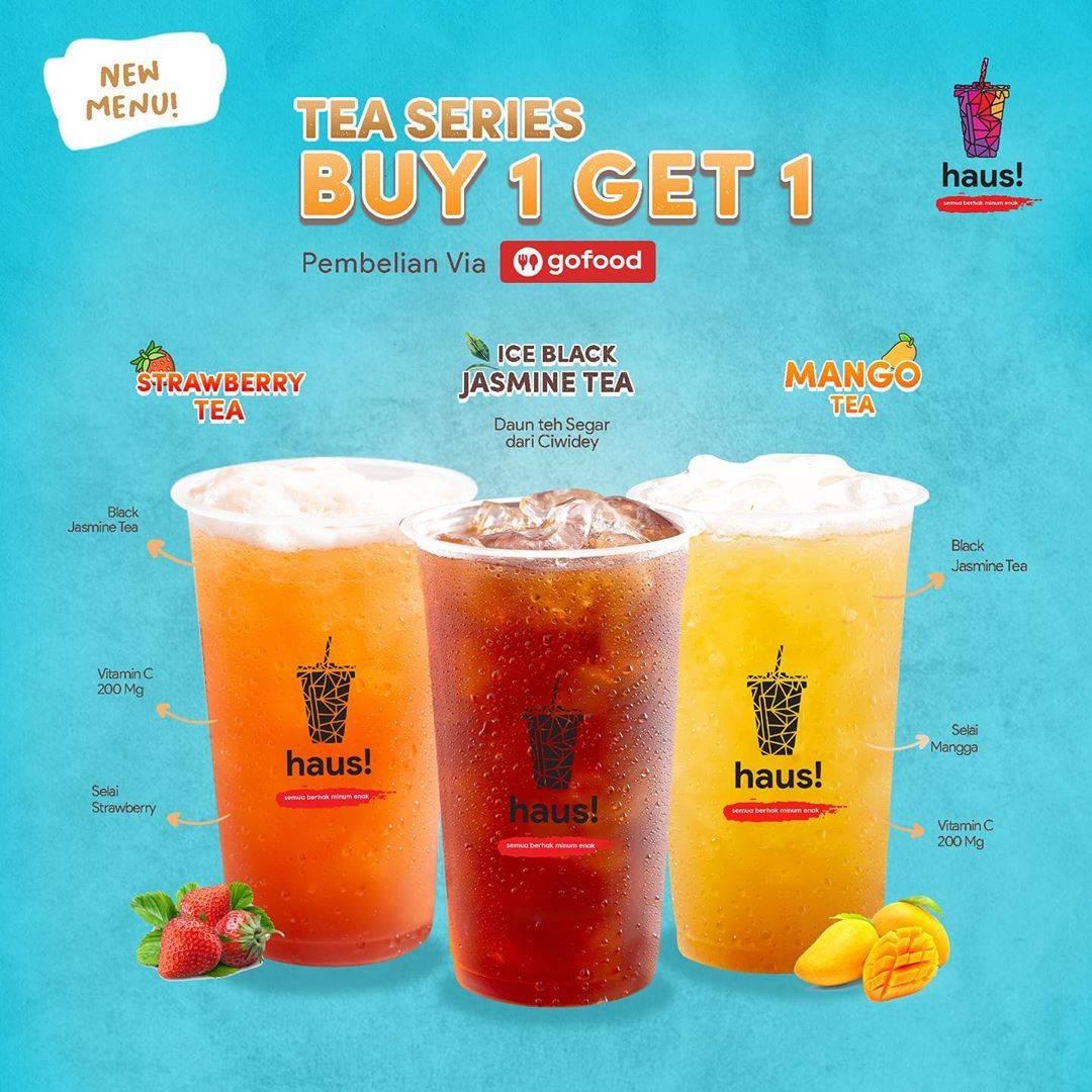 Diskon Promo Haus! Indonesia Beli 1 Gratis 1 Tea Series Melalui GoFood