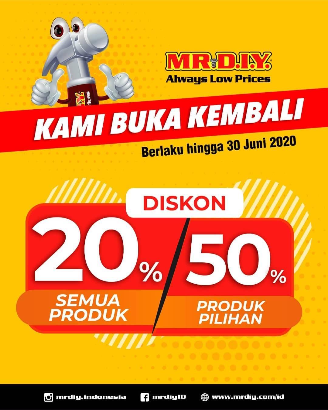 Diskon Promo MR.DIY Diskon 20% Untuk Semua Produk & Diskon Hingga 50% Untuk Produk Favorit