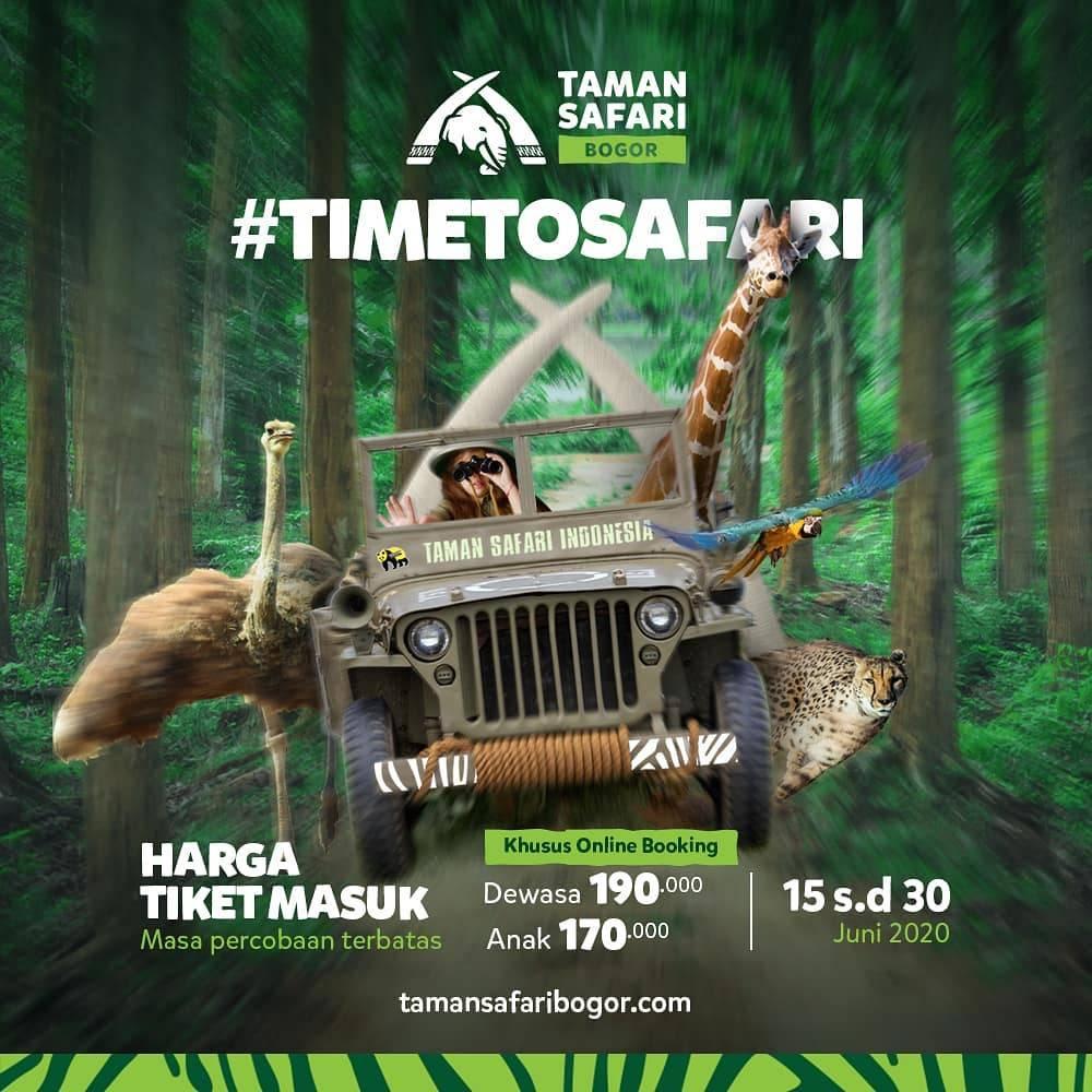 Diskon Promo Taman Safari Online Booking Harga Spesial Tiket Masuk Mulai Dari Rp. 170.000