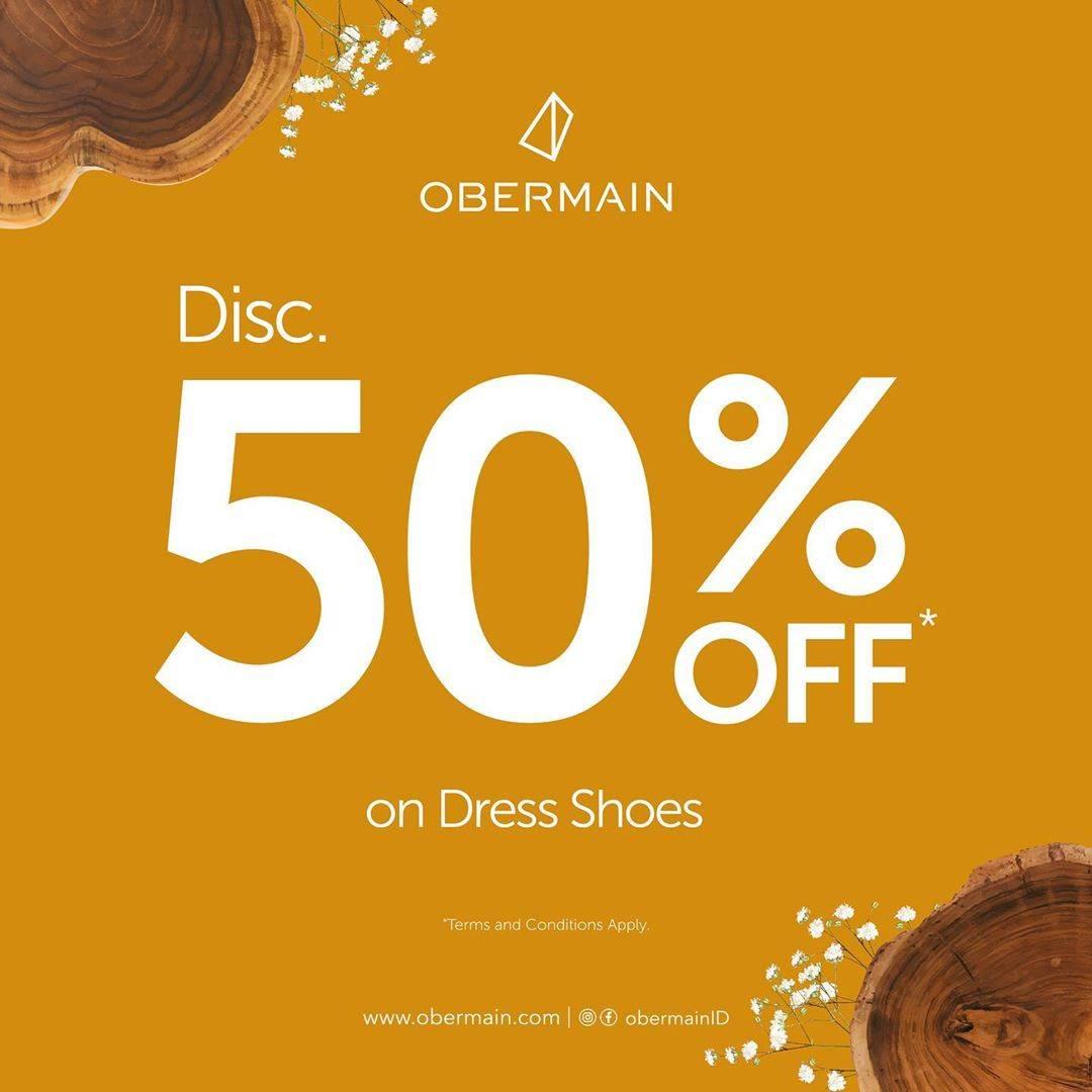 Diskon Promo Obermain Discount 50% Off On Dress Shoes & Free Wallet For Every Shoes Purchase