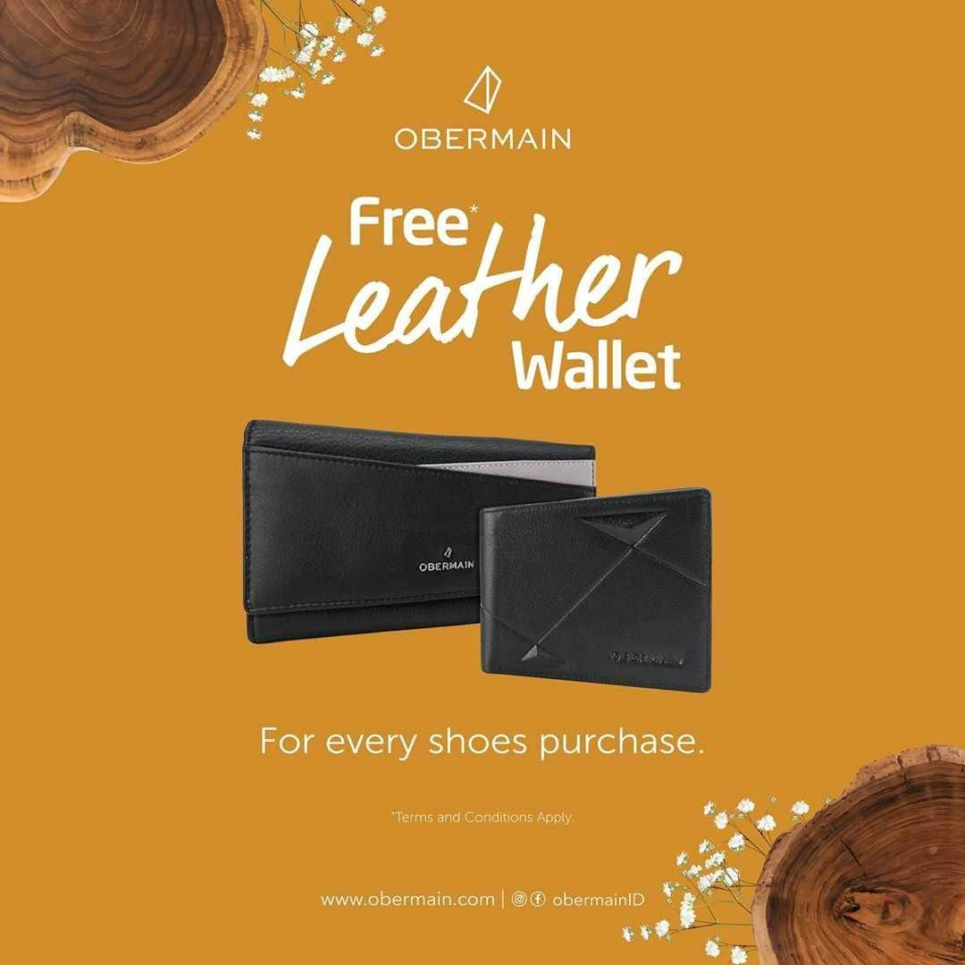 Promo diskon Promo Obermain Discount 50% Off On Dress Shoes & Free Wallet For Every Shoes Purchase