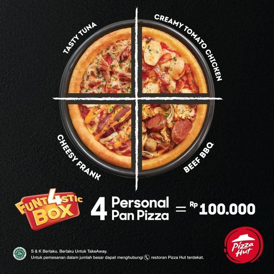 Diskon Promo Pizza Hut Funtastic Box Hanya Rp. 100.000