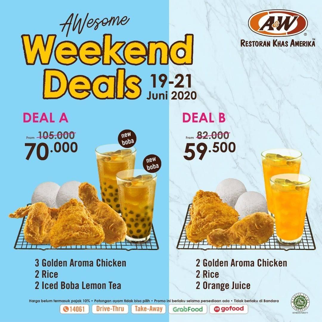 Diskon Promo A&W Restaurant Paket Awesome Weekend Deals Dengan Harga Mulai Dari Rp. 59.500