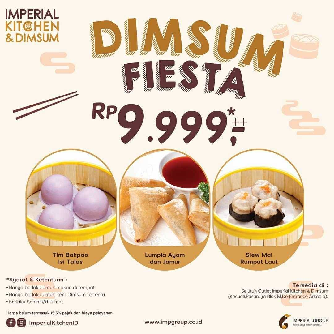Promo diskon Promo Imperial Kitchen & DImsum Menu Dimsum Fiesta Hanya Rp. 9.999