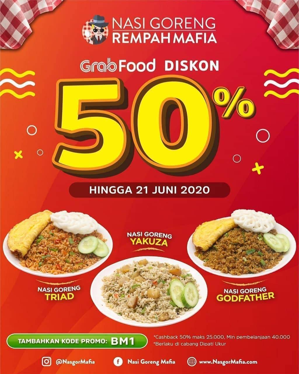 Diskon Promo Nasi Goreng Mafia Diskon 50% Untuk Pemesanan Menu Favorit Melalui GrabFood