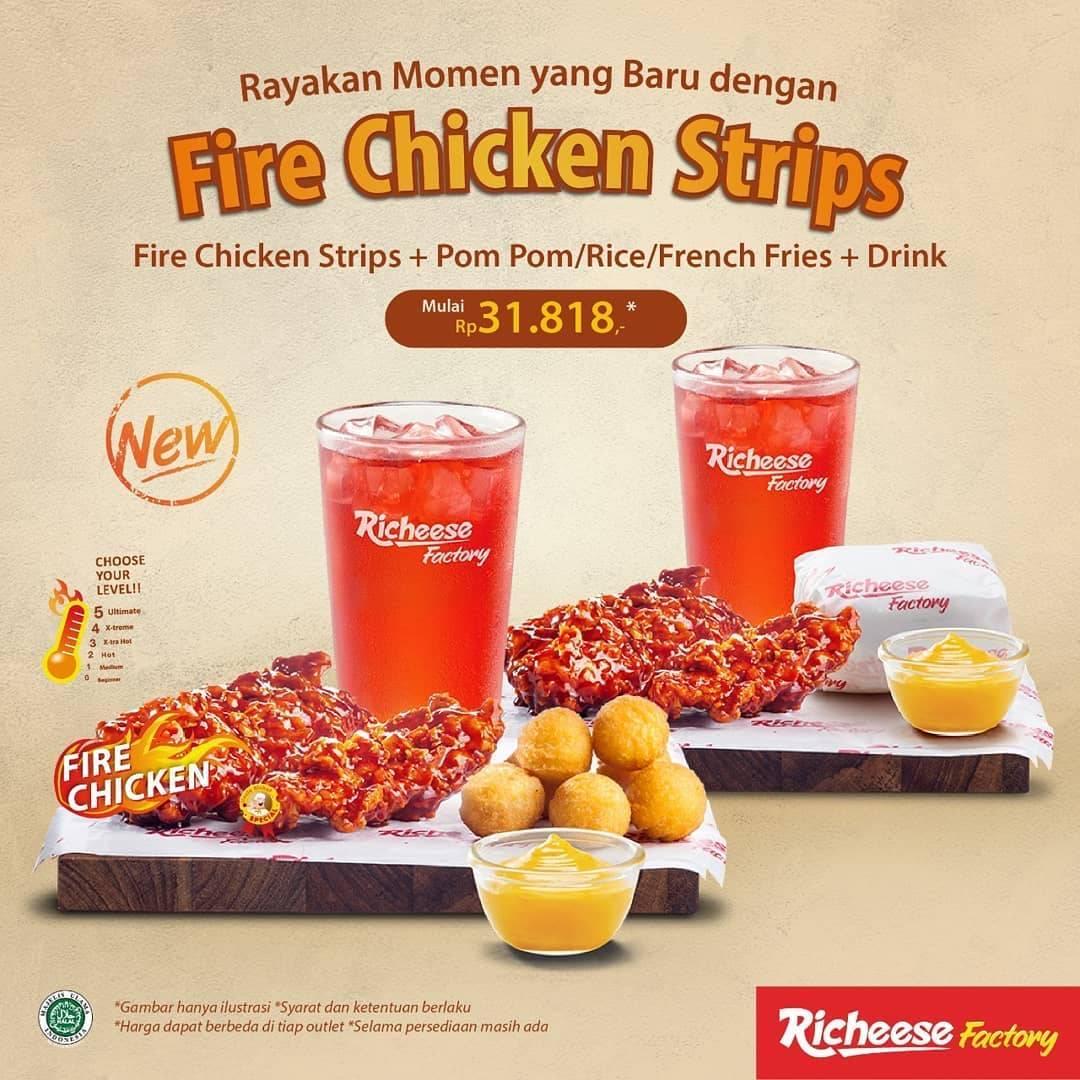 Diskon Promo Richeese Factory Paket Fire Chicken Strips Hanya Rp. 31.818