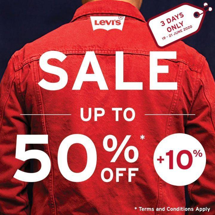 Diskon Promo Levis Sale Up To 50% Off + 10% Off