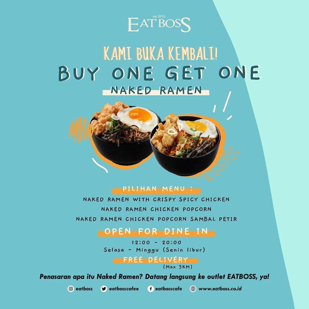 Diskon Promo Eatboss Re Opening Buy 1 Get 1 Naked Ramen