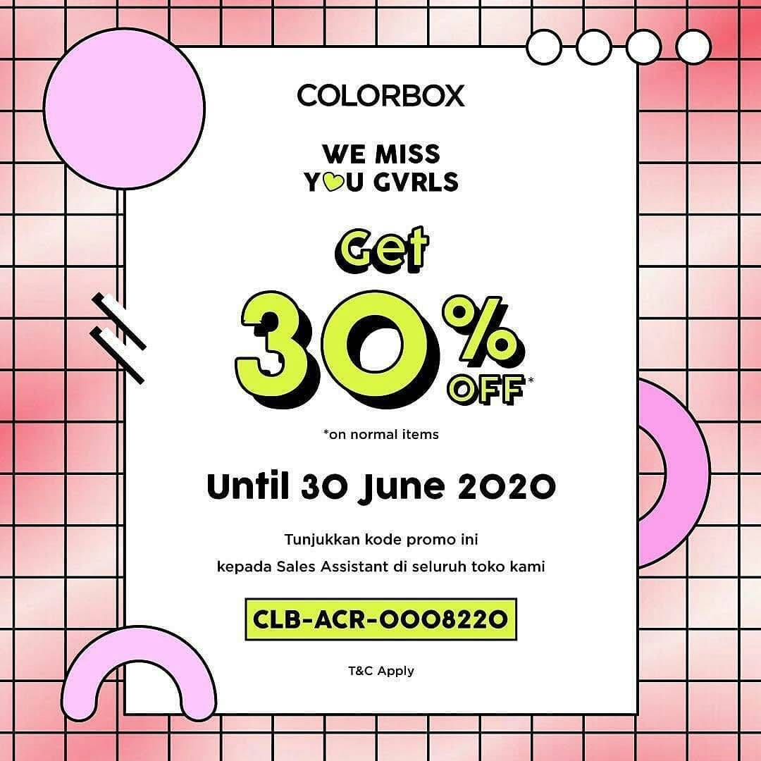 Diskon Promo Colorbox Diskon 30% On Normal Items
