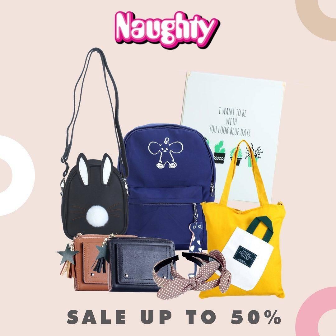 Diskon Promo Naughty Diskon Hingga 50% Untuk Pembelian Produk Online