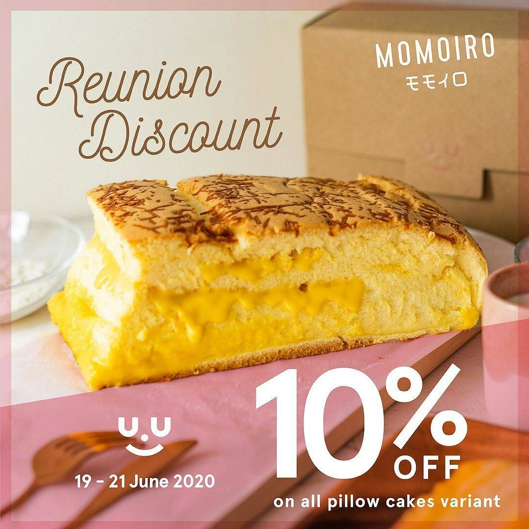 Diskon Promo Momoiro Discount 10% Off On All Variants Of Pillow Cakes