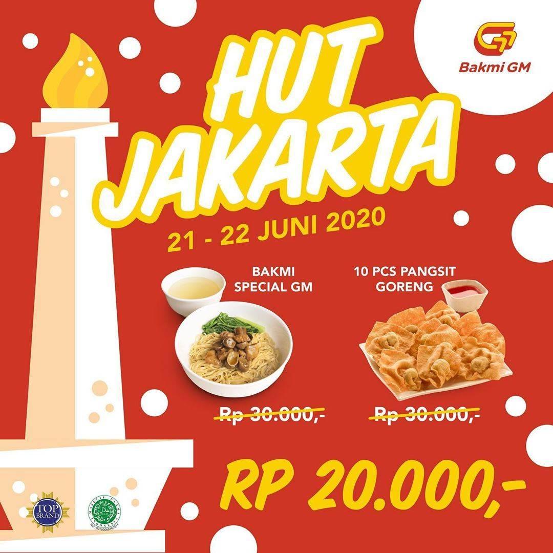 Diskon Promo Bakmi GM Hut Jakarta Paket Spesial GM + Pangsit Hanya Rp. 20.000