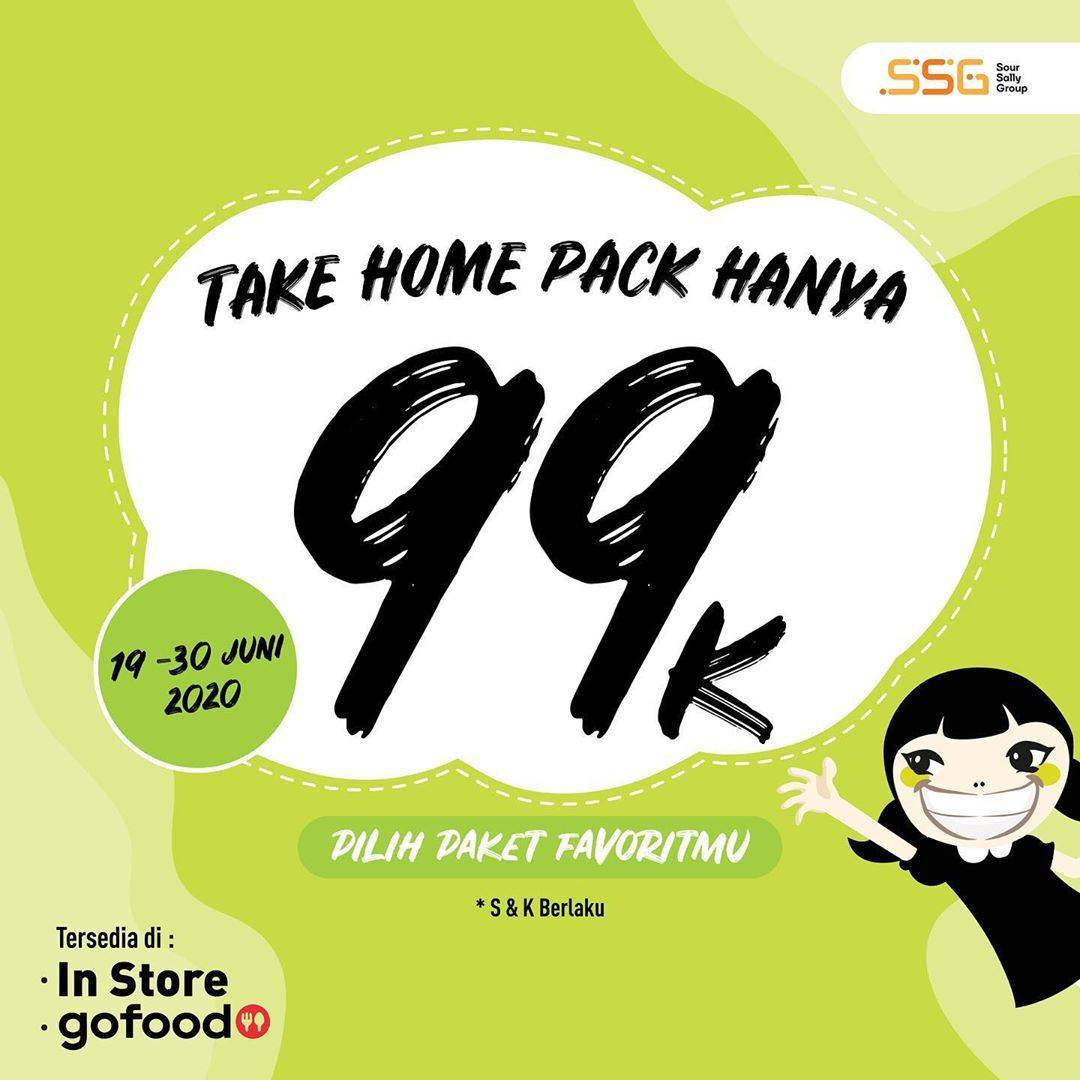 Diskon Promo Sour Sally Take Home Pack Cuma Rp. 99.000