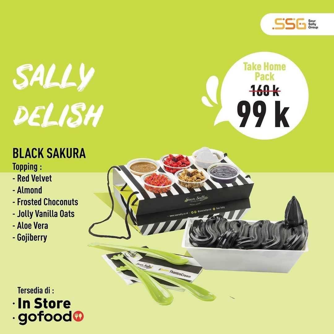 Promo diskon Promo Sour Sally Take Home Pack Cuma Rp. 99.000