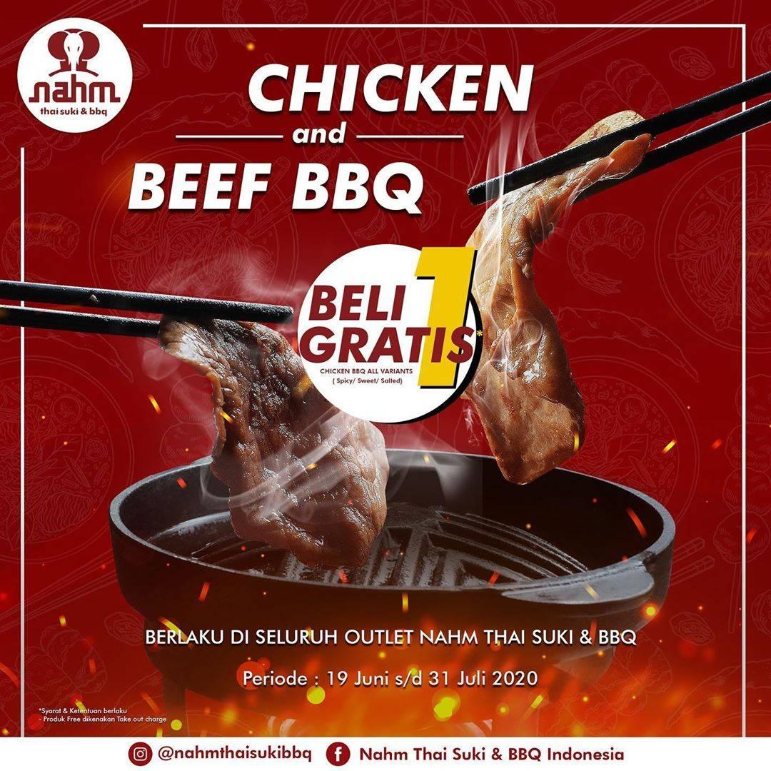 Diskon Promo Nham Thai Suki & BBQ Beli 1 Gratis 1 Plate BBQ