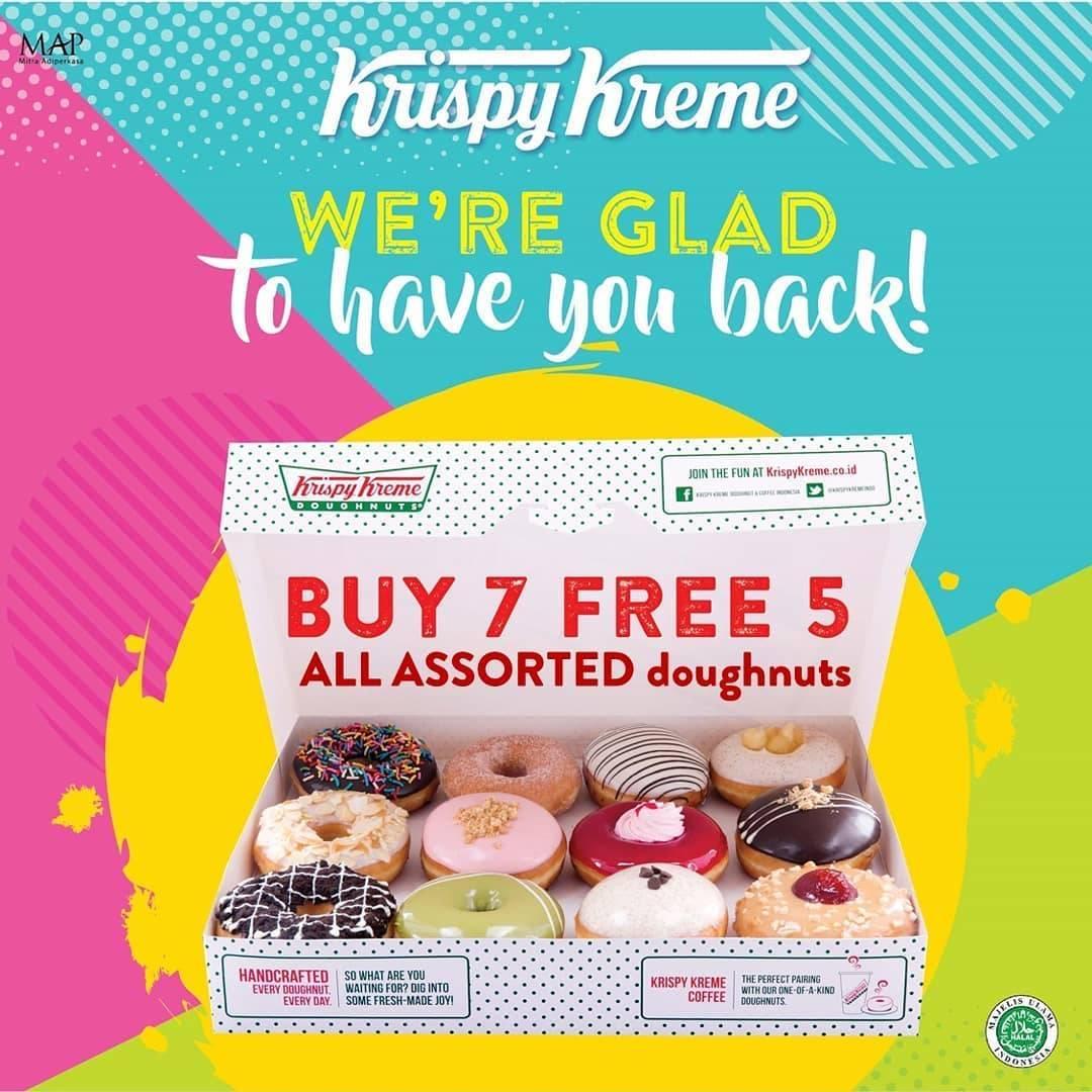 Diskon Promo Krispy Kreme Buy 7 Get 5 Free All Assorted Doughnuts