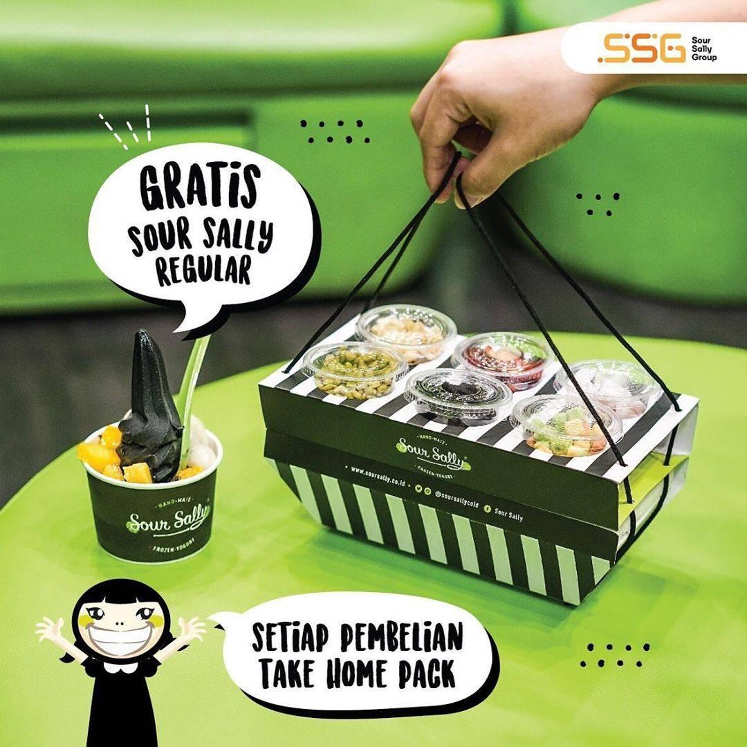 Diskon Promo Sour Sally Gratis Sour Sally Regular Setiap Pembelian Take Home Pack