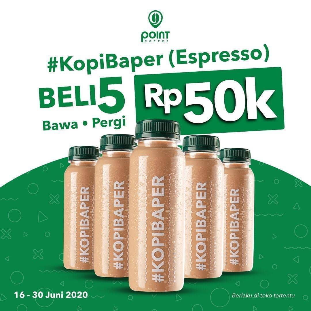 Diskon Promo Indomaret Point Coffee 5 Kopi Baper Hanya Rp. 50.000