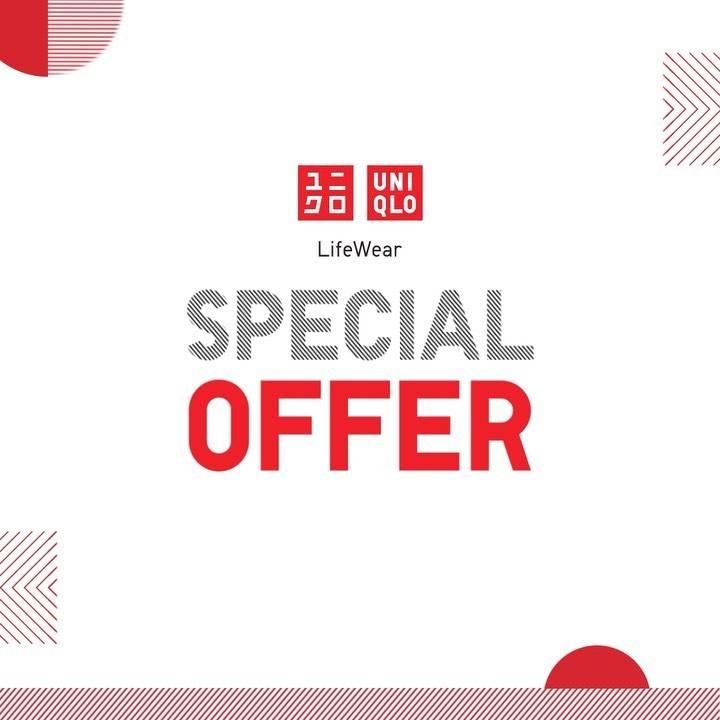 Diskon Promo Uniqlo Special Offer Harga Spesial Pakaian Pria, Wanita, Anak Mulai Dari Rp. 129.000
