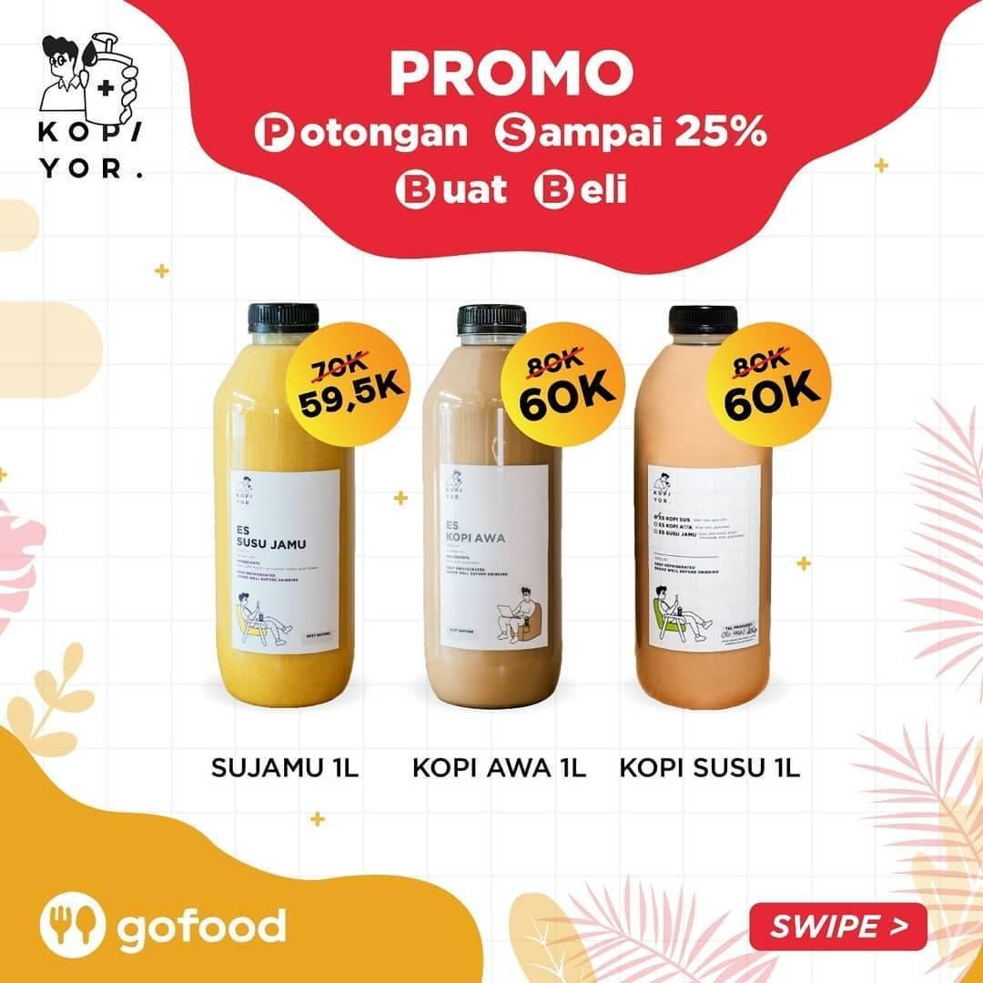 Diskon Promo Kopi Yor Diskon 25% Untuk Pemesanan Menu Favorit Melalui GoFood