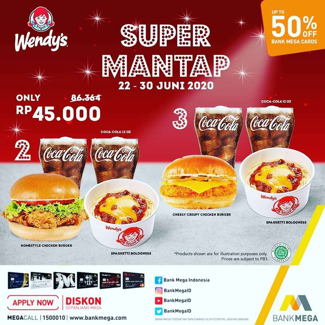 Diskon Promo Wendys Paket Super Mantap Hanya Rp. 45.000