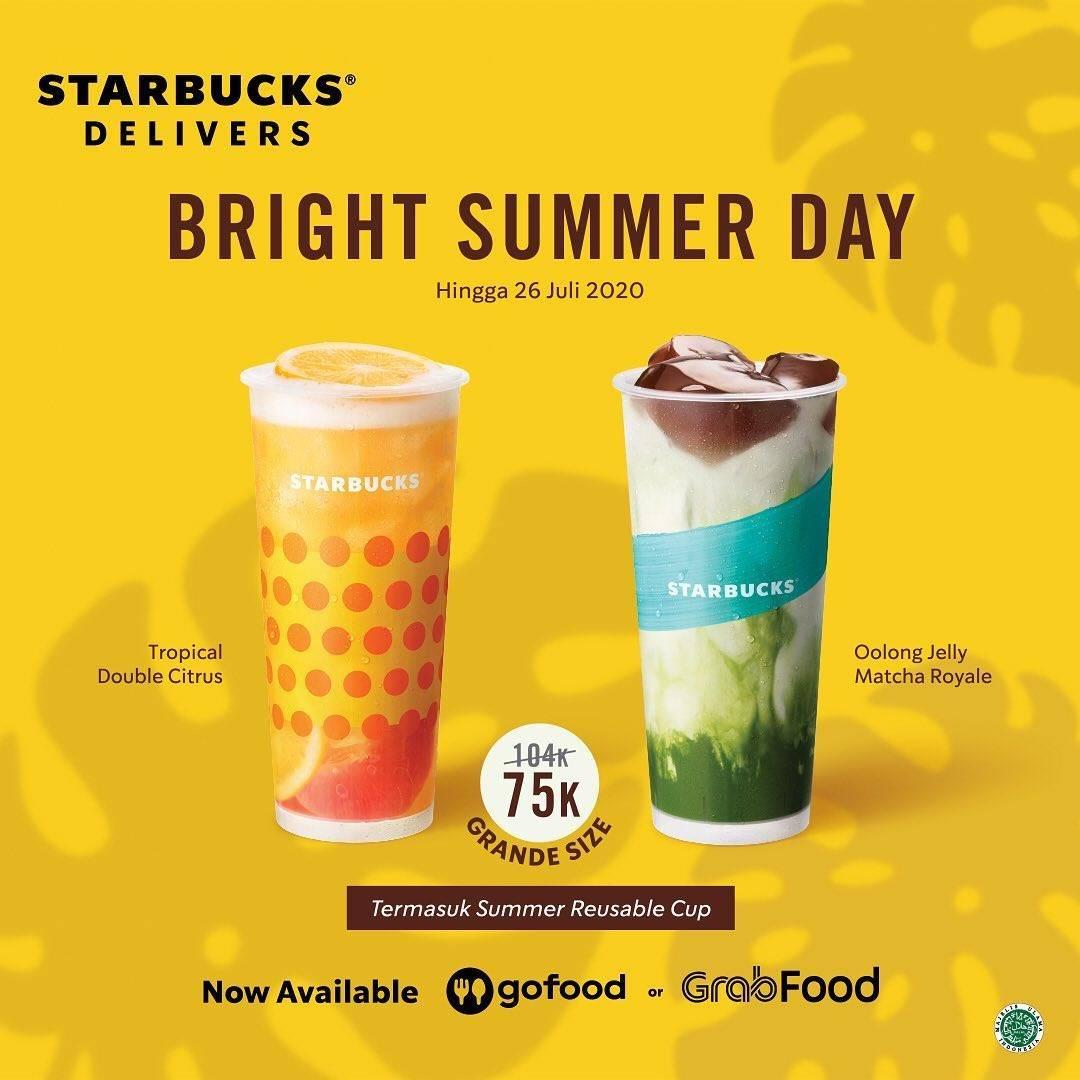 Diskon Promo Starbucks Paket Bright Summer Day Hanya Rp. 75.000