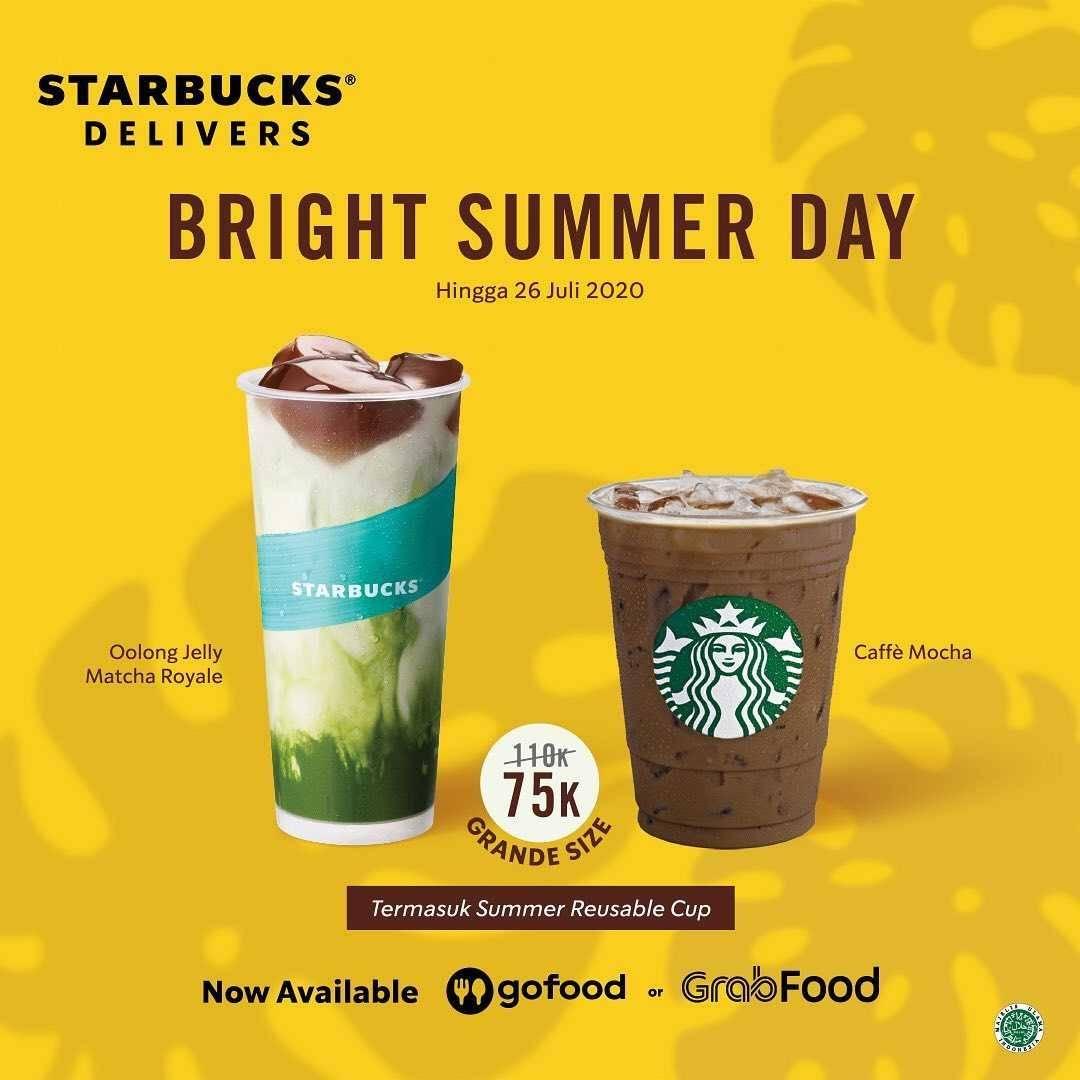Promo diskon Promo Starbucks Paket Bright Summer Day Hanya Rp. 75.000