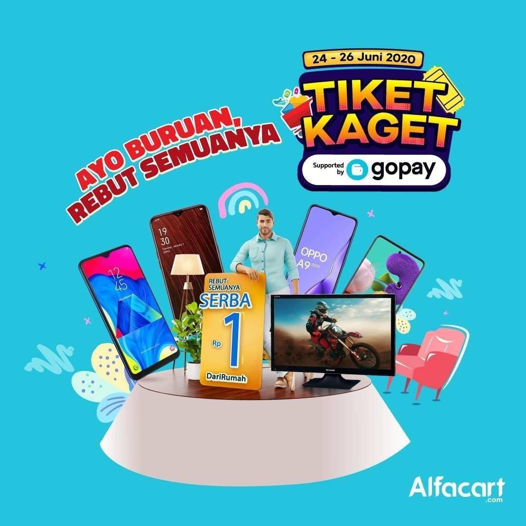 Diskon Promo Alfacart Tiket Kaget Rp. 1 Untuk Transaksi Menggunakan Gopay