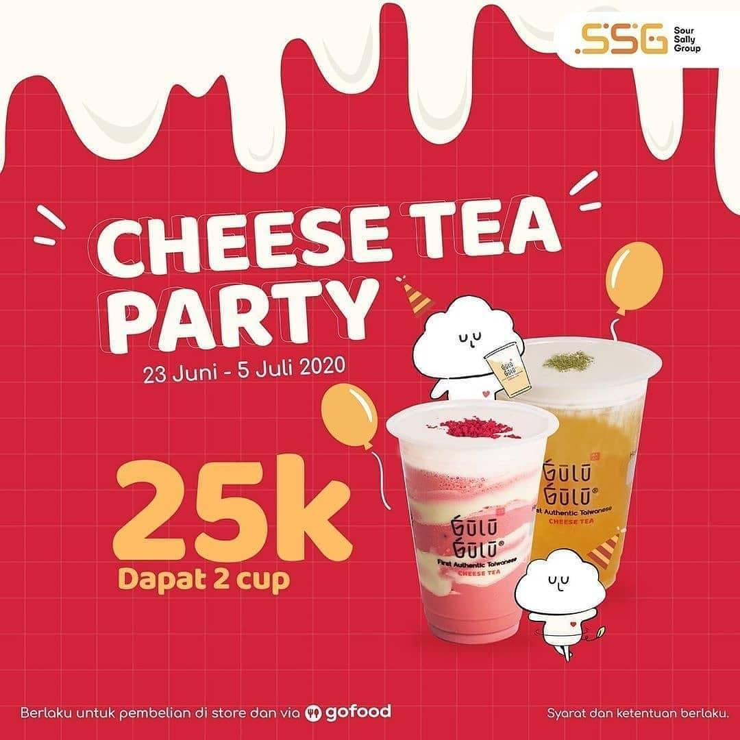 Diskon Promo Gulu Gulu Cheese Tea Party Package Only For Rp. 25.000